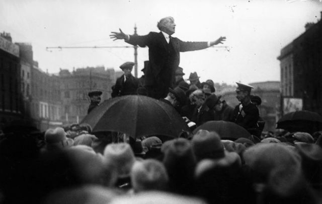 Jim Larkin is remembered as the Lion of the Irish labor movement.