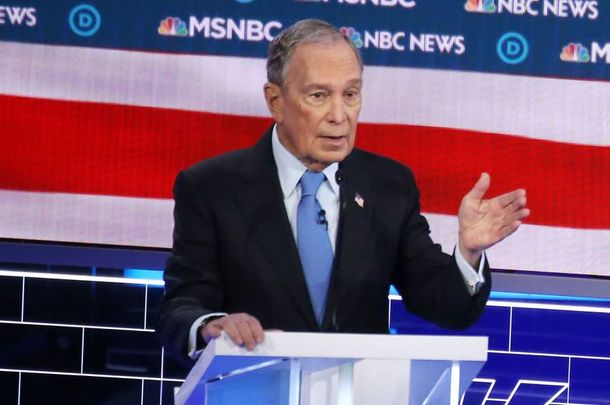 Michael Bloomberg during his first Democrat debate, on Feb 19, 2020.