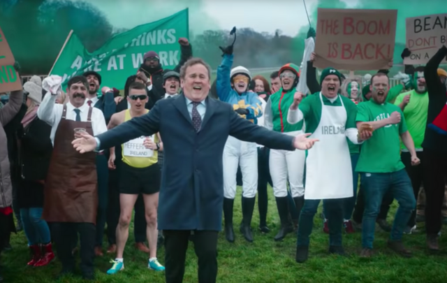 Colm Meaney was joined by a small band of Irish people to deliver his message to the English in the new Paddy Power ad.