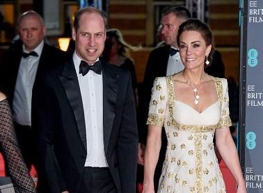 Prince William and Kate, the Duke and Duchess of Cambridge, photographed at the 2020 BAFTAs.