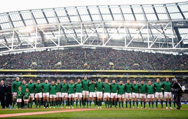 Ireland prepares to face Italy at the Aviva Stadium during the 2014 Six Nations tournament.