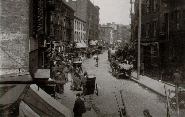 Mulberry Bend, in Manhattan, in the 1896, taken by Jacob Riis.