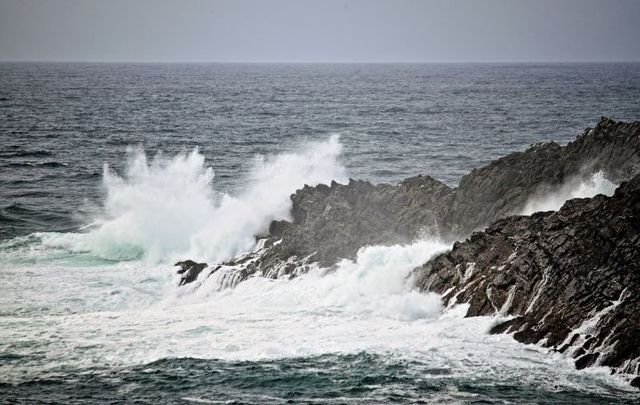 Stormy waters at Mizen Head off the coast of Co Cork