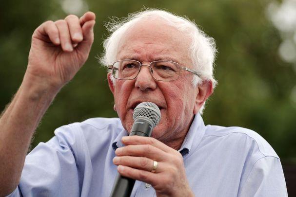 Democratic hopeful Bernie Sanders.