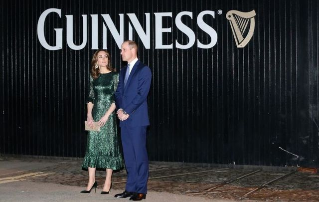 William and Kate concluded their first day in Ireland with a reception at the Guinness Storehouse in Dublin.