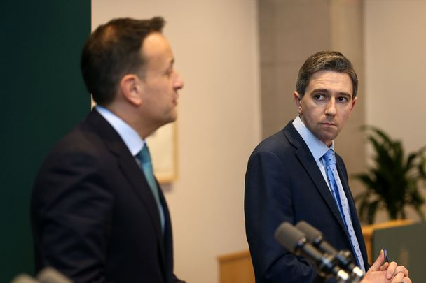 Acting-Taoiseach Leo Varadkar and Minister for Health Simon Harris.