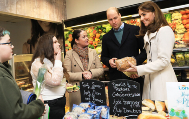 William and Kate visited a local supermarket on day two of their official Irish visit.