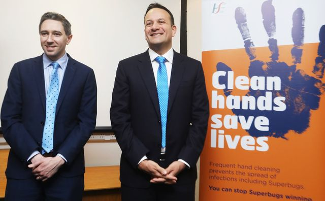 Ireland Health Minister Simon Harris and Taoiseach Leo Varadkar, photographed at the Health Protection Surveillance Centre.