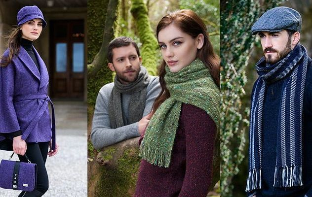 Irish scarves, hats, stoles, and caps from Mucros Weavers