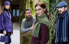 Best of Irish woven scarves, caps, capes, and rugs for St Patrick's Day