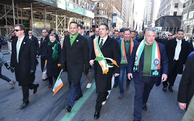 St. Patrick\'s Day parade 2019: Irish leader Leo Varadkar, Gov Andrew Cuomo, and Rep Pete King march up Fifth Ave.