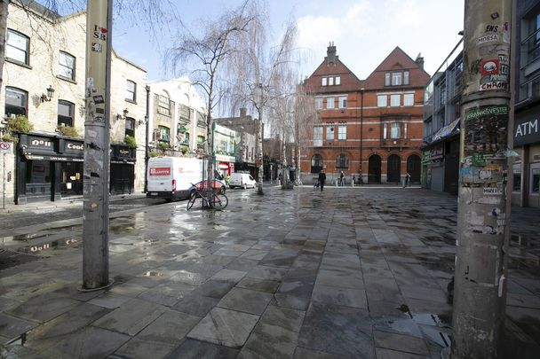 Temple Bar, Dublin: A usual tourist hotspot empty due to the coronavirus covid-19 outbreak.