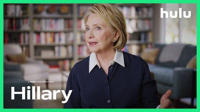 "A still from \""Hillary\"", a Hulu documentary on Hillary Clinton."
