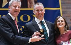 Thumb 1 new york city mayor bill de blasio  nypd commissioner dermot shea and his wife serena on shea s swearing in day on december 1.   photo courtesy nyc mayor s office