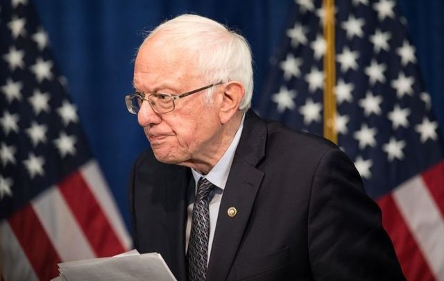 Democratic presidential candidate Sen. Bernie Sanders (I-VT) after delivering a campaign update at the Hotel Vermont on March 11, 2020 in Burlington, Vermont.