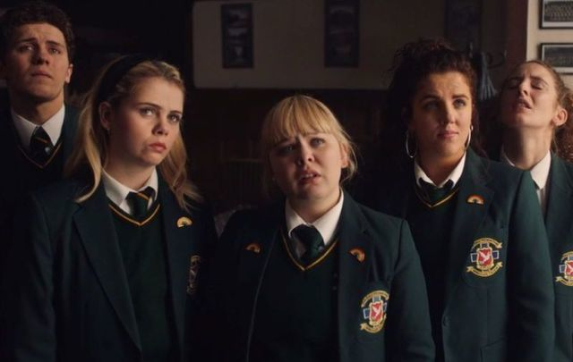 Derry Girls cast.