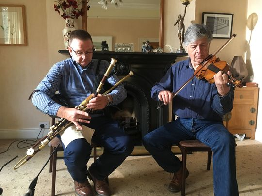 Paddy Glackin (right) featured on Sé Mo Laoch: TG4\'s music player is free worldwide to stream the best of Irish music straight to your home.