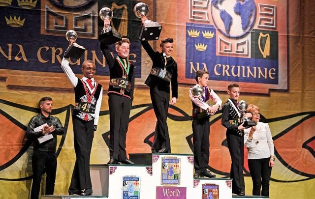Competitors at the 2018 CLRG World Irish Dancing Championships in Glasgow, Scotland.