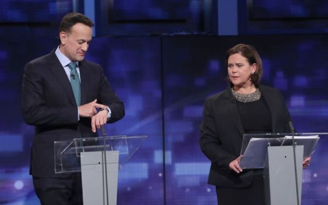 Leo Varadkar and Mary Lou McDonald at the leader\'s debate earlier this year.