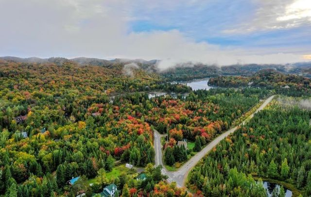 An aerial view of Laurentians in Canada, just north of Montreal.