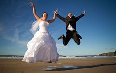 Thumb wedding happy couple bride groom istock