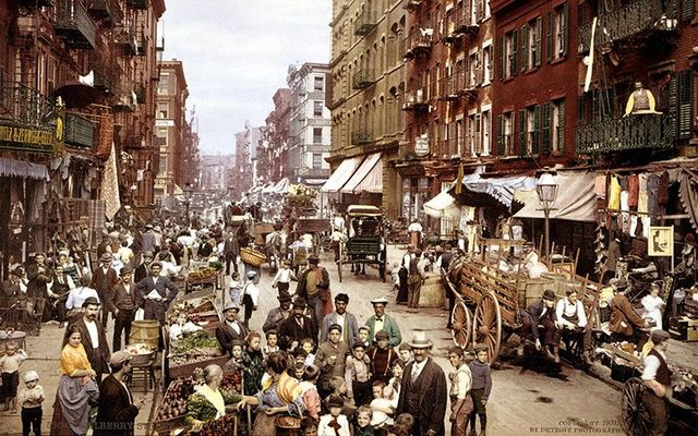 Mulberry Street, c 1900: The New York Tenement Museum documents the struggles of the Irish in America.