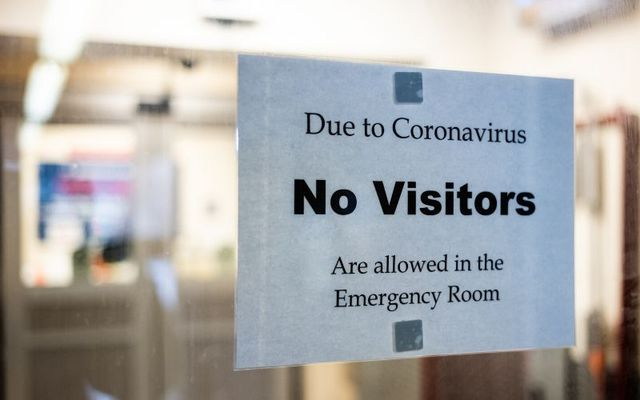 A sign in the emergency room at St. Barnabas\' Hospital in the Bronx.