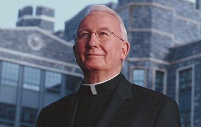 Fordham University\'s Father Joseph O'Hare.