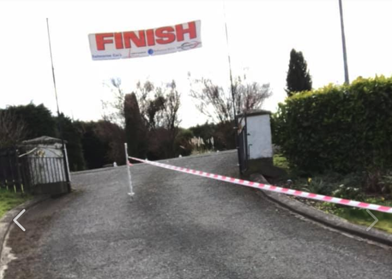 Keith Clarke from Dungannon, County Tyrone ran a marathon in his driveway to raise money for first responders.