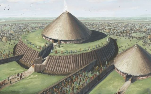 An artist\'s recreation of Rathcroghan in County Roscommon.