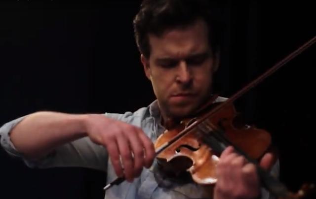 Violinist Greg Harrington.