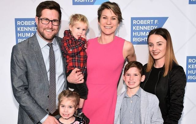 David McKean, Maeve Kennedy Townsend Mckean and family attend the Robert F. Kennedy Human Rights Hosts 2019 Ripple Of Hope Gala & Auction In NYC on December 12, 2019 in NYC.