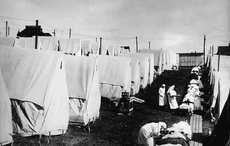 Thumb spanish flu tents getty
