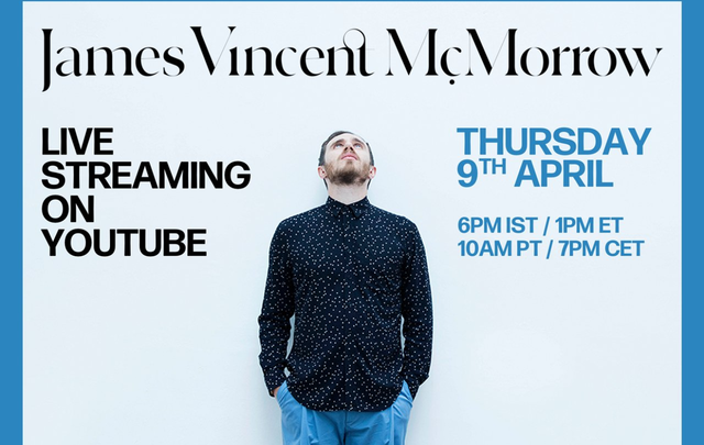 James Vincent McMorrow streamed his debut album on YouTube!