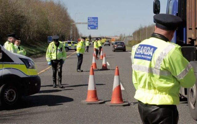 Gardai taking part in Operation Fanacht ahead of Easter weekend.