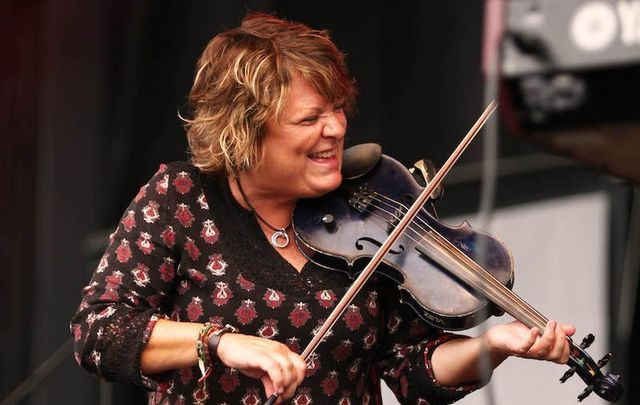 Eileen Ivers, a nine-time All Ireland Champion fiddler and Grammy award winner, performed via ive stream on Thursday, April 16.