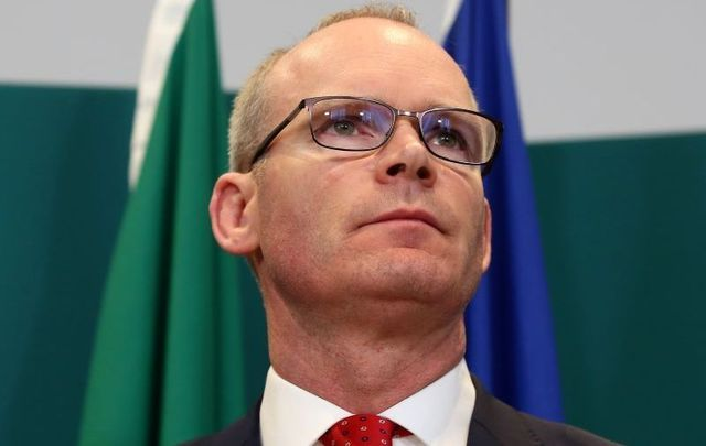 Ireland\'s Tanaiste and Minister of Foreign Affairs and Trade Simon Coveney at a press conference in March 2020.
