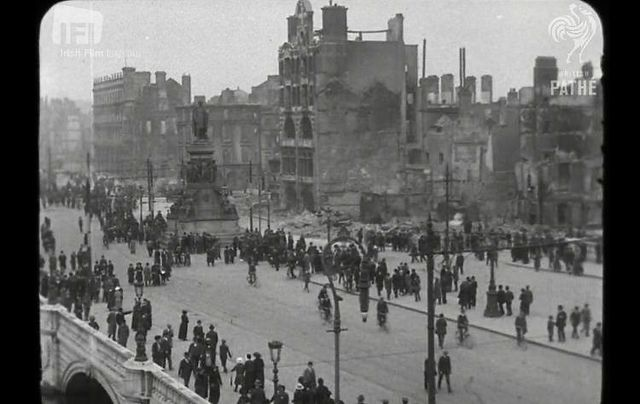 Dublin City in the aftermath of the 1916 Easter Rising.