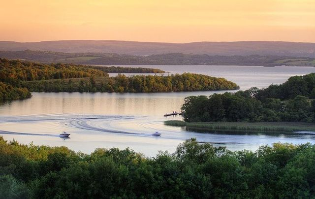 Lough Erne, County Fermanagh, at sunset.