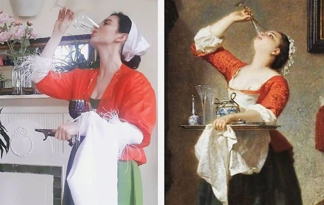 Irish stylist and blogger Martha Gilheaney is bringing famous artworks to life during lockdown.
