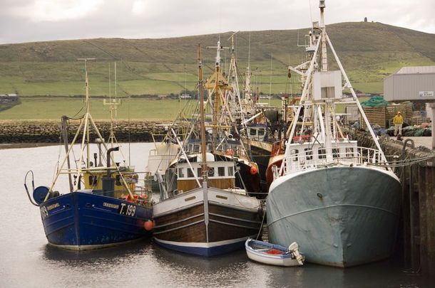 Local fishermen in Dingle, Co Kerry staged a blockade against an incoming vessel from Spain.