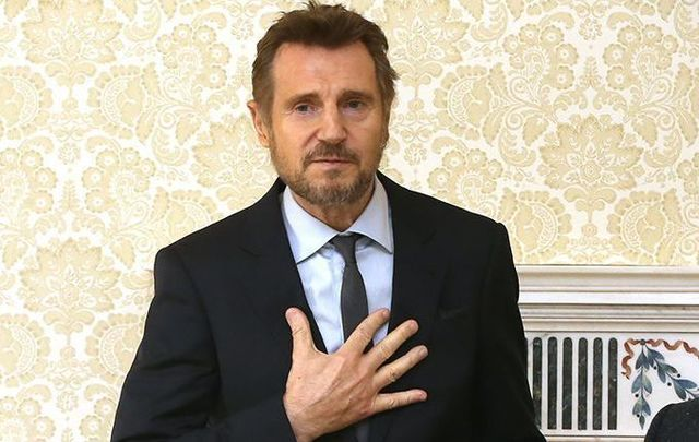 Liam Neeson praised staff at his local New Milford Hospital.