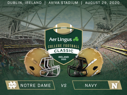 2020 College Football Classic: Notre Dame vs. Navy