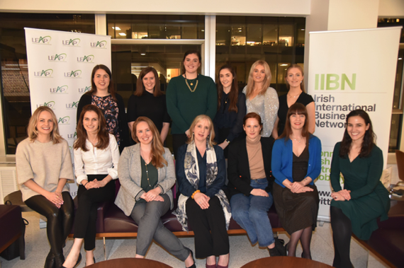The women and advisors at the LEAP Launch on February 4, 2020.