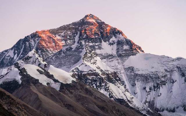 Mount Everest, the highest summit in the world.