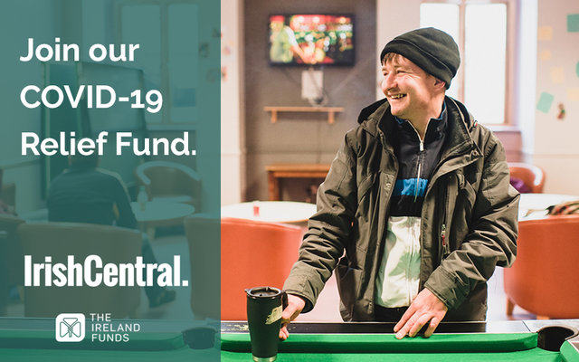 Join IrishCentral\'s COVID-19 Relief Fund, in association with The Ireland Funds.