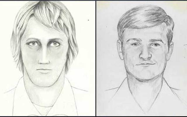 Police sketches from the FBI of the East Area Rapist, later nicknamed The Golden State Killer.