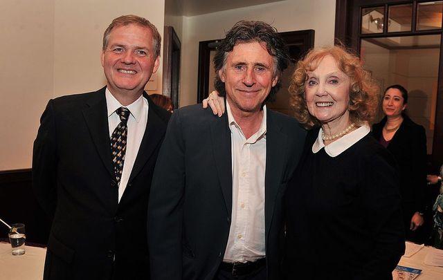 Irish actor Gabriel Bryne attending an Irish Rep Theater event.