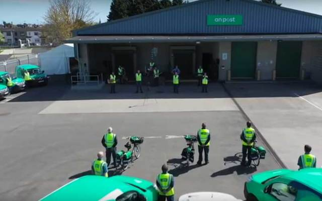 "An Post staff in Drogheda recorded a video of their rendition of ""Ireland\'s Call\"" to raise funds for frontline workers at Our Lady of Lourdes Hospital."