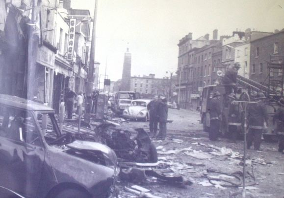Wreckage from the 1974 bombing in Dublin.